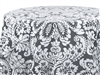 Capua Damask Print Tablecloths Gray