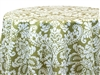 Capua Damask Print Tablecloths Green
