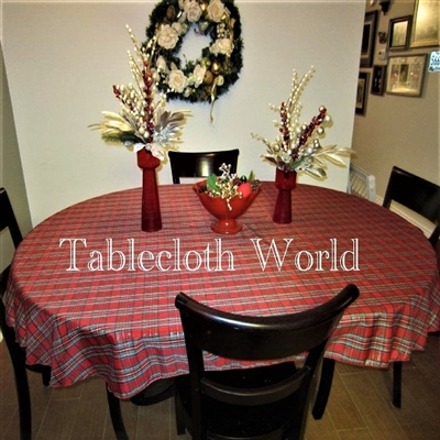 Tablecloths Christmas Plaid