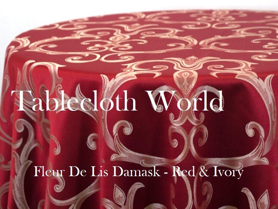 Tablecloths   Fleur De Lis Damask