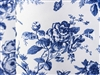 Floral Toile Blue Tablecloths