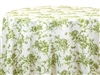 Floral Toile Green Tablecloths