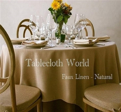Tablecloths Faux Linen