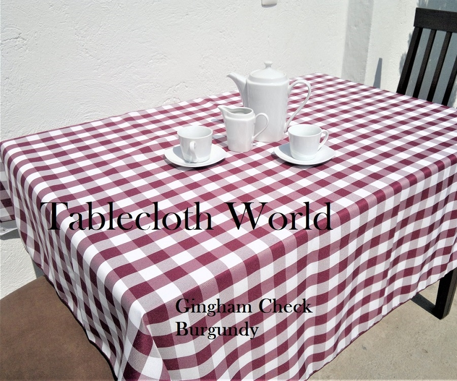 Gingham Check Tablecloths Larger Photo