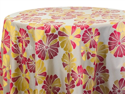 Glee Floral Damask Tablecloths