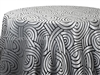 Tablecloths Interlace Black and White
