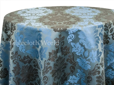 Tablecloths Mirror Damask Blue