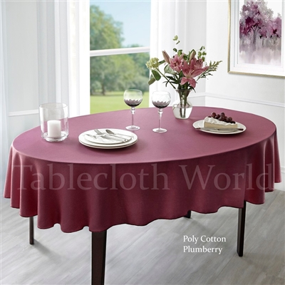 Tablecloths Poly Cotton
