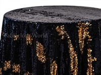 Claw Sequins Gold Navy Tablecloths