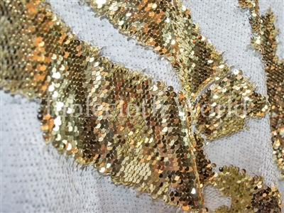 Claw Sequins Gold White Tablecloths