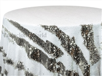 Claw Sequins Silver White Tablecloths
