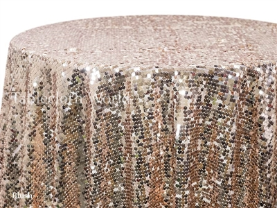 Sequin Mosaic Blush Tablecloths