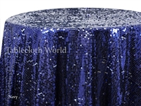 Sequin Mosaic Navy Tablecloths