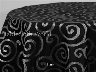 Tablecloths Silver Spiral Damask