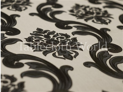 Saint Louis Damask Brown Tablecloths
