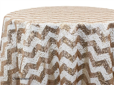 Zig Zag Sequins Tablecloths