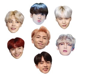 BTS KPOP Seven Pack of Masks