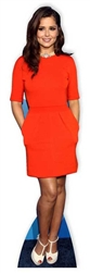 life size cheryl cole standee in red dress