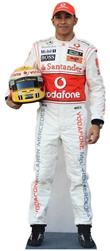 life size lewis hamilton standee in uniform
