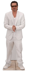 life size brad pitt white outfit cardboard cutout