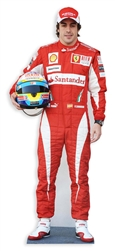 life size fernando alonso racing uniform cardboard cutout