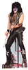 Star Cutouts Ltd CS549 Paul Stanley Kiss Cardboard Cutout Perfect for Music Fans, 1970s Theme Parties and Events Height 177cm