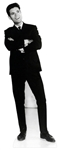 life size black and white cliff richard cardboard standee