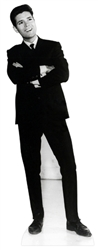 CS552 Star Cutouts Ltd Cliff Richard Black and White Classic Cardboard Cutout Perfect for Fans, Christmas Parties and Events Height 178cm