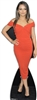 life size cardboard standee of mila kunis in red dress
