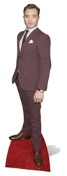 life size ed westwick red carpet suit and tie cardboard cutout