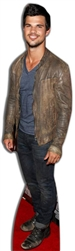 life size taylor lautner in jacket on red carpet cardboard cutout