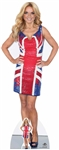 life size geri halliwell in union jack dress cardboard cutout