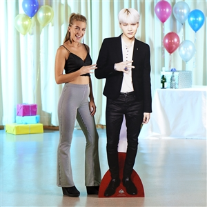 Lifesize Cut Out of Min Yoon-gi (Suga) BTS BANGTAN BOYS Lifesize Cardboard Cutout