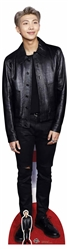 Kim Nam-joon (RAP MONSTER) Black Leather BTS BANGTAN BOYS Lifesize Cardboard Cutout