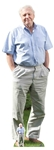 Star Cutouts Ltd CS774 David Attenborough Lifesized Cardboard Cutout with Free Table Top