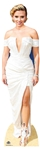 Lifesize Carboard StandeeScarlett Johansson White Dress