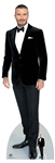 Lifesize Carboard Standee David Beckham Smart Black Suit Bow Tie