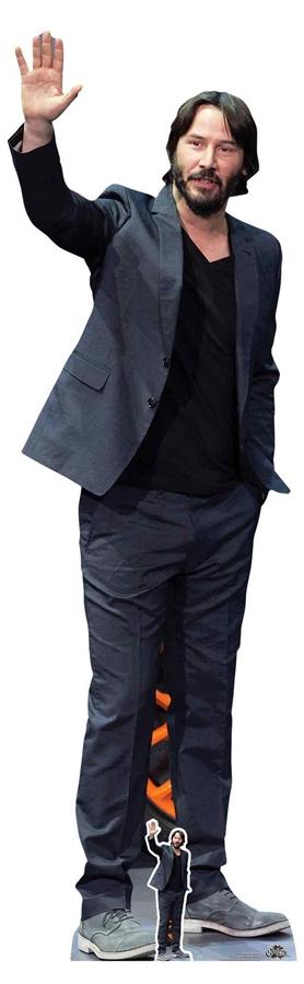 Standee. Keanu Reeves Cardboard Cutout Grey Suit mini size