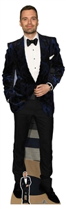 CS803 Sebastian Stan Lifesize Cardboard Cutout With Free Table Top Cutout Great Gift for Fans Height 184cm Width 59cm