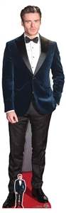 CS806 Richard Madden Blue Velvet Jacket Lifesize Cardboard Cutout with Free Mini Cardboard Cutout Height 179cm