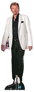 CS807 Johnny Hallyday Lifesize Cardboard Cutout with Free Mini Cardboard Cutout Height 179cm