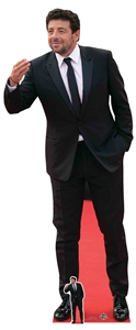 CS825 Star Cutouts Patrick Bruel Suit Lifesize Cardboard Cutout/Standee/Standup Perfect for Parties, Fans, Displays and Collectors Height 180cm Width 74cm