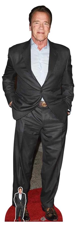 regalo per fan con mini standee in omaggio Star Cutouts Ltd CS832 Arnold Schwarzenegger multicolore Ritaglio in cartone a grandezza naturale amici e famiglia