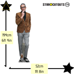 CS854 Jeff Goldblum (Suede Jacket) Lifesize Cardboard Cutout with Free Mini Cardboard Cutout