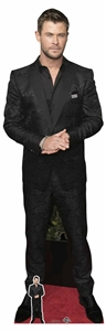 CS870 Chris Hemsworth Black Shirt Lifesize Cardboard Cutout with Free Mini Standee