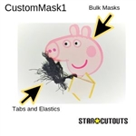 Star Cutouts Custom Mask