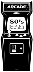 Golden Age Black and White Video Arcade