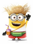 Vacation Minion with drink Star-Mini