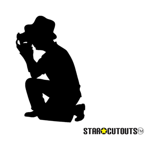 Manufactured by Star Cutouts Photographer (Silhouette Black) Lifesize Cardboard Cutout