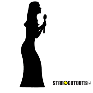 Manufactured by Star Cutouts Singer (Silhouette) Lifesize Cardboard Cutout